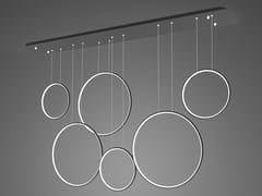Lampada a sospensione a LED in alluminioLED RINGS NO.8 - ALTAVOLA DESIGN