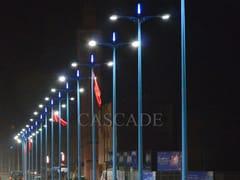 Elemento decorativo a LED per lampione stradalePunte luminose LED per terminali pali - CASCADE