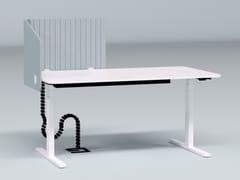 Pannello divisorio da scrivania fonoassorbente in plastica riciclataLEFT WRAP - IMPACT ACOUSTIC