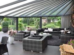 Gardendreams, LEGEND EDITION SOLUZIONI D'ANGOLO Pergolato addossato in alluminio