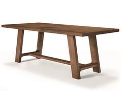 Tavolo rettangolare in noceLEONARDO L640N/180L | Tavolo rettangolare - ARTE BROTTO MOBILI