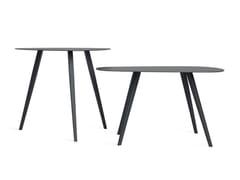 Tavolino in metallo da salottoLEONARDO - REAL PIEL