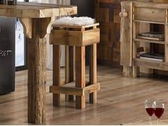Sgabello alto in legnoLEONE | Sgabello - ARVESTYLE