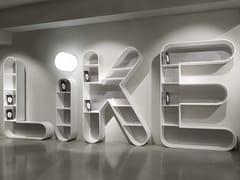 Libreria a giorno in Solid SurfaceLETTERARIO | Libreria - BOFFETTO