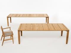 Tavolo da giardino rettangolare in teakLEVANTE 022 - RODA