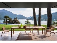 Tavolo da giardino rettangolare in teakLEVANTE 030 - RODA