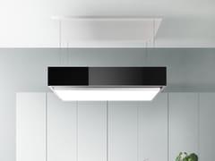 Cappa a carboni attivi ad isola in acciaio inox con illuminazione integrataLEVANTE - FALMEC