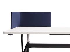 Pannello divisorio da scrivania fonoassorbente in tessutoLEVEL | Pannello divisorio da scrivania - COR SITZMÖBEL HELMUT LÜBKE