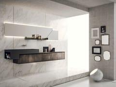 Mobile lavabo sospeso con specchioLIBERA+   COMPOSIZIONE 01 - NOVELLO