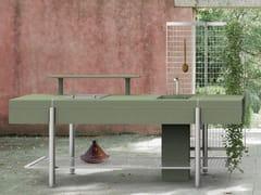 Modulo freestanding con ripiani in acciaio e cementoLIBERA - ELMAR