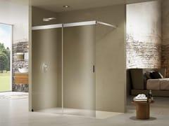 Box doccia angolare rettangolare in cristallo con porta scorrevoleLIBERO 5000 INLAB | Box doccia con piatto - DUKA