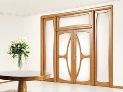 Porta in legno massello e vetro con sopraluce e fianchi-luce LIBERTY - Liberty