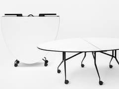 Tavolo pieghevole rotondo con ruoteARGO LIBRO T - MARA