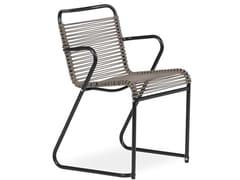 Sedia a slitta con braccioli LIDO | Sedia con braccioli - Lido