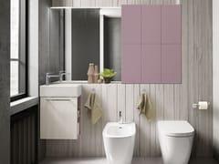 Mobile lavabo laccato sospeso con specchioLIGHT 06 - ARCHEDA