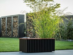 Panca da giardino in legno e alluminioLINARTE | Panca da giardino - RENSON®