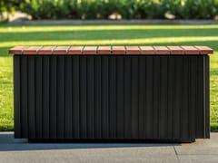 Panca da giardino modulare in legno e alluminioLINARTE | Panca da giardino modulare - RENSON®