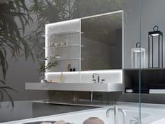 Top scatolato con vasca integrataLINEÒ | Piano lavabo in Tecnoblu - ARBLU