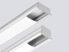 Profilo per illuminazione lineare in alluminio estruso per moduli LED LINE MINI E - Line