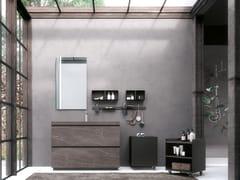 Mobile lavabo da terra in legno con cassettiLINEA 03 - ARCHEDA