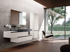 Mobile lavabo singolo in legno con specchioLINEA 04 - ARCHEDA