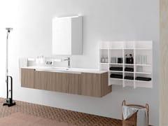 Mobile lavabo laccato in legno con specchioLINEA 06 - ARCHEDA