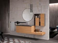 Mobile lavabo sospeso in legno con specchioLINEA 07 - ARCHEDA