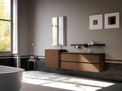 Mobile lavabo singolo in legno con specchioLINEA 08 - ARCHEDA