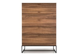 Cassettiera in acciaio e legno LINEA | Cassettiera - Linea