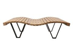 Seduta da esterni in legnoLINEA ONDA - EUROFORM K. WINKLER