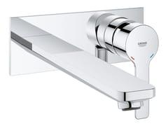 Miscelatore per lavabo a muro con piastra LINEARE NEW   Miscelatore per lavabo a muro - Lineare New