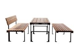 Tavolo per spazi pubblici rettangolare in legnoLINEATAVOLO - EUROFORM K. WINKLER