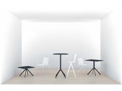 Tavolo quadrato in acciaioLINER | Tavolo quadrato - ARES LINE