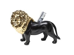 Salvadanaio in ceramica LION GOLD-BLACK - KARE-DESIGN