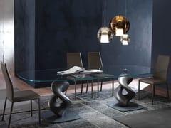 Tavolo ovale in vetro LIQUID BIG -