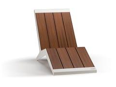 Seduta da esterni in legnoLIVE - METALCO