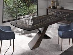 Tavolo in legno con inserto in ceramica LIVING | Tavolo rettangolare - Living