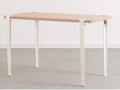 Tavolo rettangolare in acciaio e legnoLOBO - TIPTOE