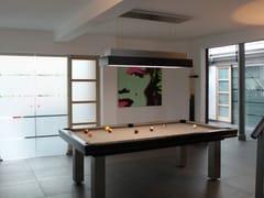 Tavolo da biliardo rettangolare in acciaio inox e legnoLOFT - BILLARDS TOULET