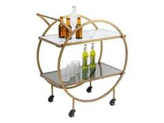 Carrello bar in acciaio e vetroLOFT - KARE DESIGN