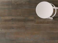Pavimento/rivestimento in gres porcellanato effetto legnoLOFT Leather - ITALGRANITI