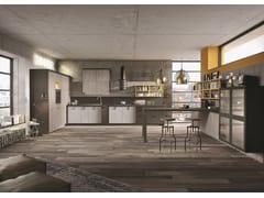 Cucina componibile lineare su misura in stile moderno LOFT | Cucina lineare - SISTEMA