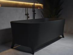 Vasca da bagno rettangolare in Solid SurfaceLOFTY BLACK - RILUXA