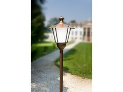 Lampione da giardino a lanterna in ottoneLOGGIATO | Testa Palo - ALDO BERNARDI