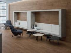 Pavimento/rivestimento in gres porcellanato effetto legno LOGOS BROWN - Logos