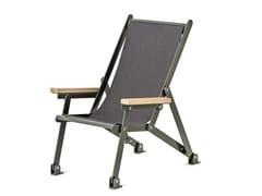 Sedia a sdraio pieghevole in acciaio verniciato a polvere con braccioliLOJ SUN CHAIR - NOLA INDUSTRIER
