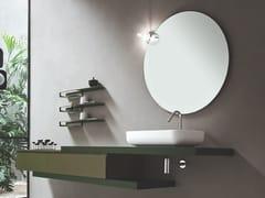 ARBLU, LOL Specchio rotondo da parete per bagno