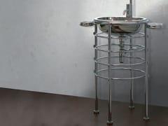 Lavabo freestanding rotondo in acciaio inoxLOLA HERZBURG - RAPSEL INTERNATIONAL