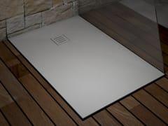 Piatto doccia angolare rettangolare ultrapiatto in Corian®LONDON - RILUXA