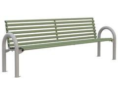 Panchina in acciaio con schienaleLONDRA | Panchina con schienale - LAZZARI SRL